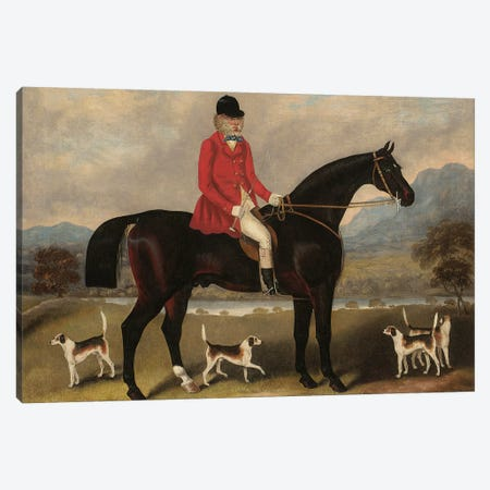 John Dawson Duckett on Lad, 1856  Canvas Print #BMN5578} by Samuel Spode Canvas Art Print