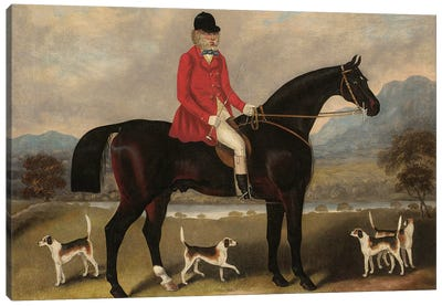 John Dawson Duckett on Lad, 1856  Canvas Art Print