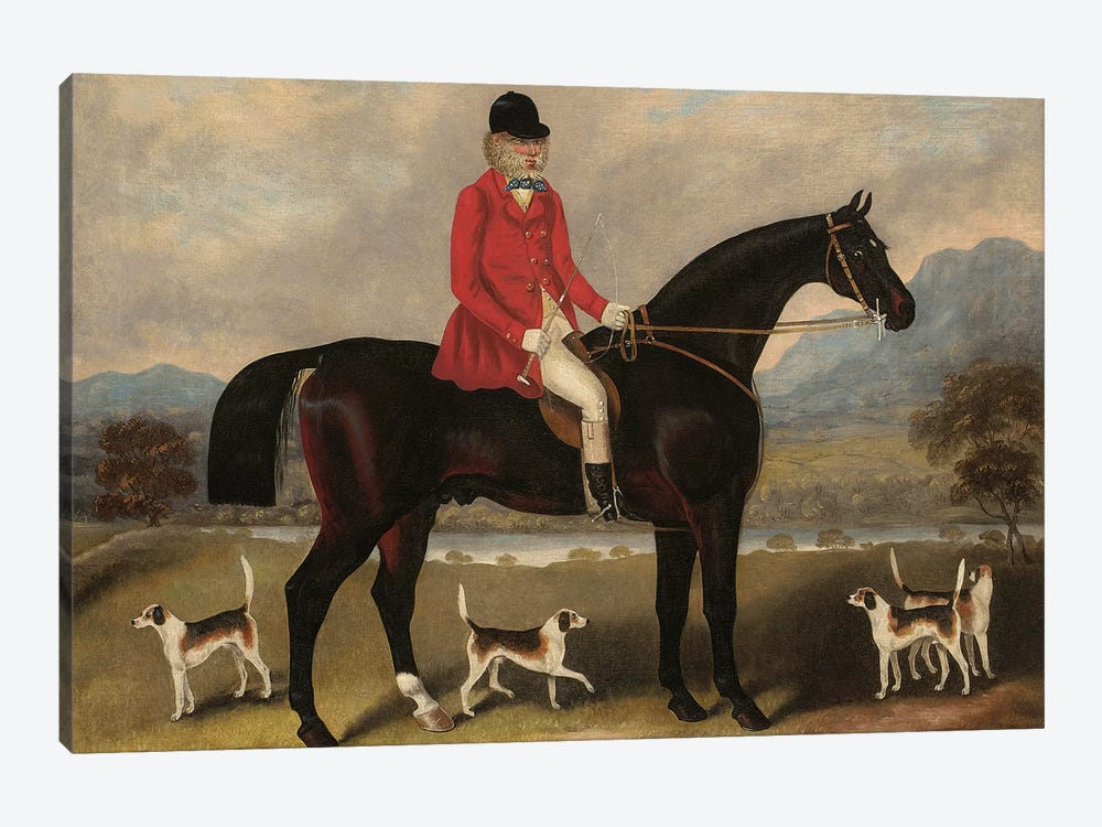 John Dawson Duckett on Lad, 1856  by Samuel Spode 1-piece Canvas Art