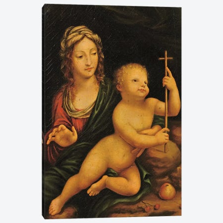Madonna of the Yarnwinder  Canvas Print #BMN5580} by Leonardo da Vinci Canvas Art