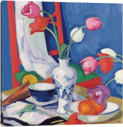 Red Chair and Tulips, c.1919  Canvas Art Print