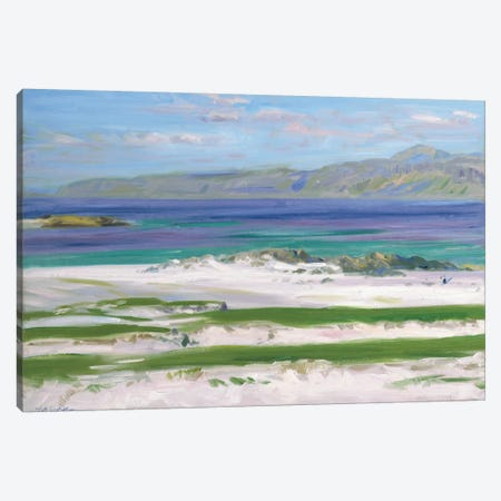 Iona Sound and Ben More  Canvas Print #BMN5583} by Francis Campbell Boileau Cadell Canvas Art