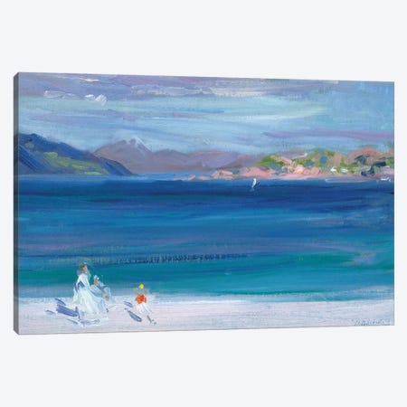 The Tail of Mull from Iona  Canvas Print #BMN5584} by Francis Campbell Boileau Cadell Art Print