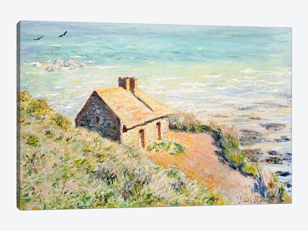 The Customs Hut, Morning, 1882  by Claude Monet 1-piece Canvas Print