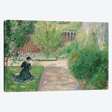 Sunny Garden, 1908  Canvas Print #BMN5587} by August Macke Canvas Art Print
