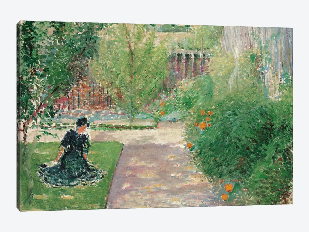 Sunny Garden, 1908  by August Macke 1-piece Canvas Art
