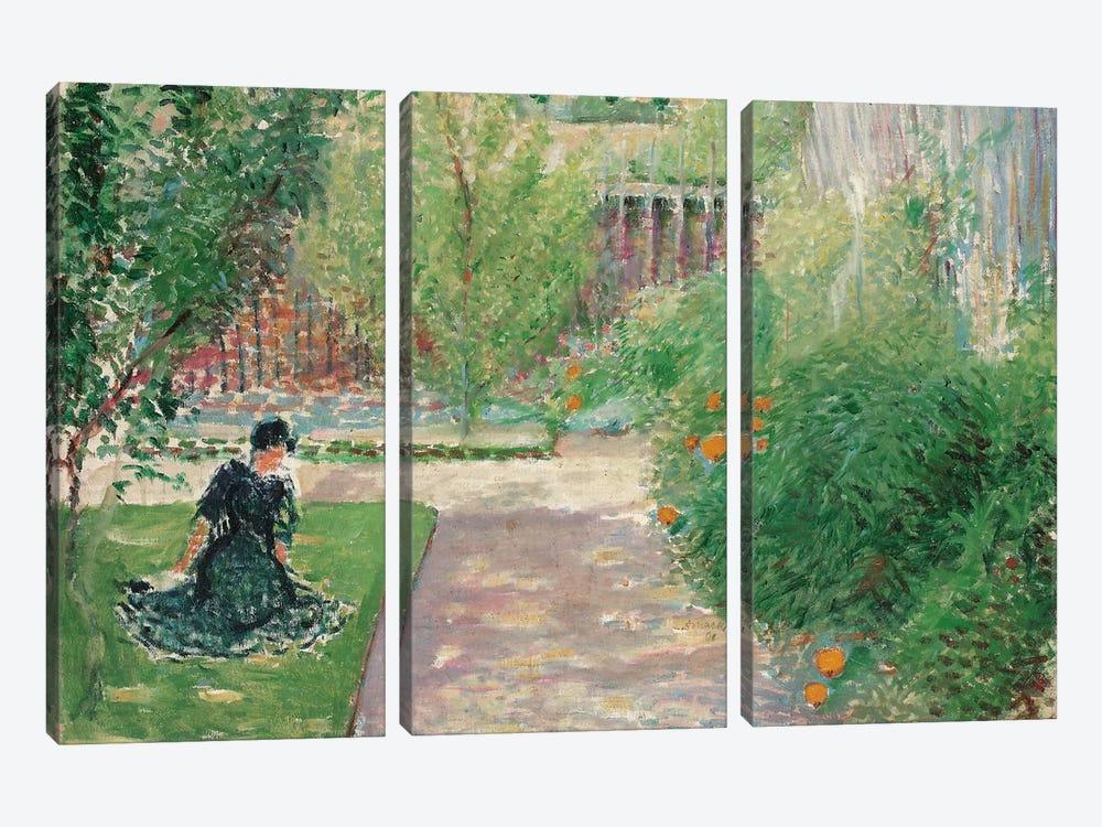 Sunny Garden, 1908  by August Macke 3-piece Canvas Art