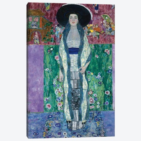 Portrait of Adele Bloch-Bauer II, 1912  Canvas Print #BMN5589} by Gustav Klimt Canvas Art