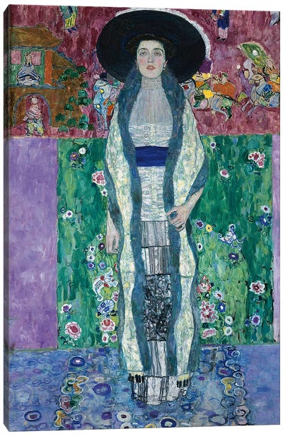 Portrait of Adele Bloch-Bauer II, 1912  by Gustav Klimt Canvas Art Print