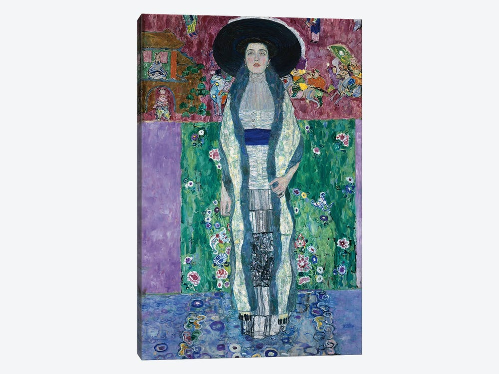 Portrait of Adele Bloch-Bauer II, 1912  by Gustav Klimt 1-piece Canvas Art