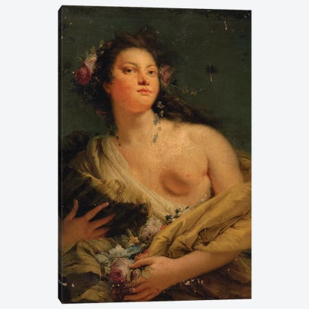 Portrait of a lady as Flora  Canvas Print #BMN5594} by Giovanni Battista Tiepolo Canvas Art