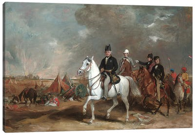 The Viscount Hardinge (Governor-General Of India) On The Battlefield Of Ferozeshah, Accompanied By His Sons And Colonel Wood  Canvas Art Print
