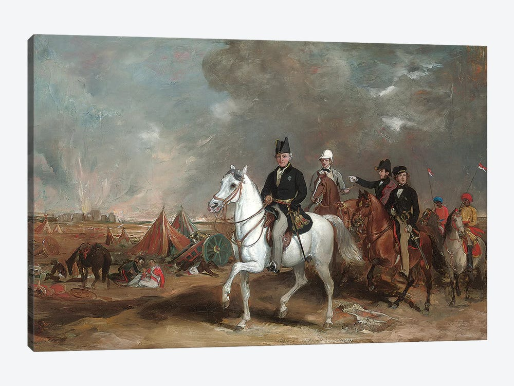 The Viscount Hardinge (Governor-General Of India) On The Battlefield Of Ferozeshah, Accompanied By His Sons And Colonel Wood  by Sir Francis Grant 1-piece Canvas Art Print