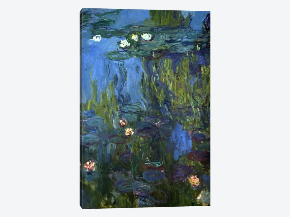 Nympheas, 1914-17 by Claude Monet 1-piece Canvas Art Print