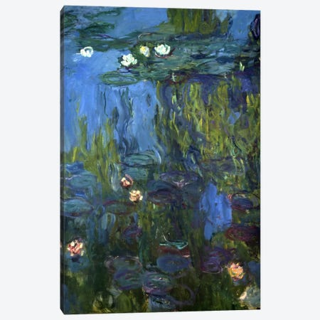 Nympheas, 1914-17  Canvas Print #BMN5597} by Claude Monet Canvas Art