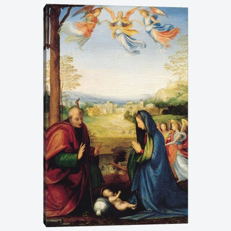 The Nativity  Canvas Print #BMN5598} by Fra Bartolommeo Canvas Print