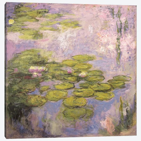 Nympheas, 1916-19  Canvas Print #BMN5599} by Claude Monet Canvas Art Print