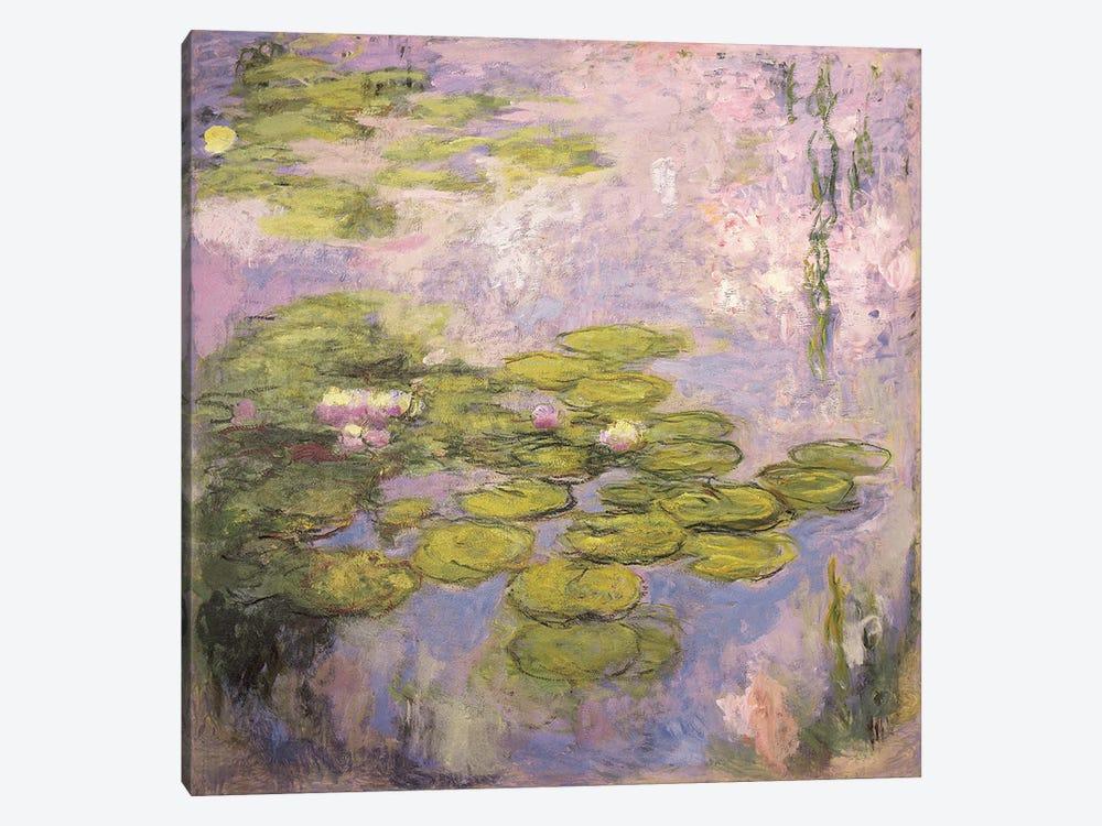 Nympheas, 1916-19  by Claude Monet 1-piece Canvas Art Print