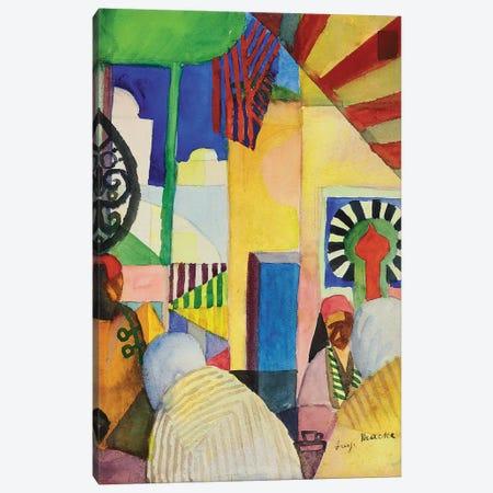 In the Bazaar, 1914  Canvas Print #BMN5600} by August Macke Art Print