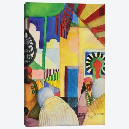 In the Bazaar, 1914  Canvas Print #BMN5600} by August Macke Art Print