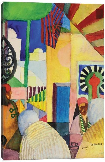 In the Bazaar, 1914  Canvas Art Print