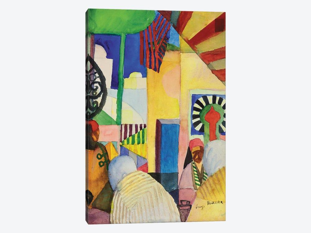 In the Bazaar, 1914  by August Macke 1-piece Canvas Art Print