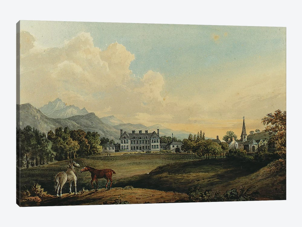 Views in Killarney: Lord Kenmare's House  by Thomas Gage 1-piece Canvas Art Print