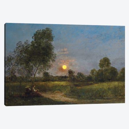 Moonrise, 1887  Canvas Print #BMN5609} by Charles Francois Daubigny Canvas Art Print