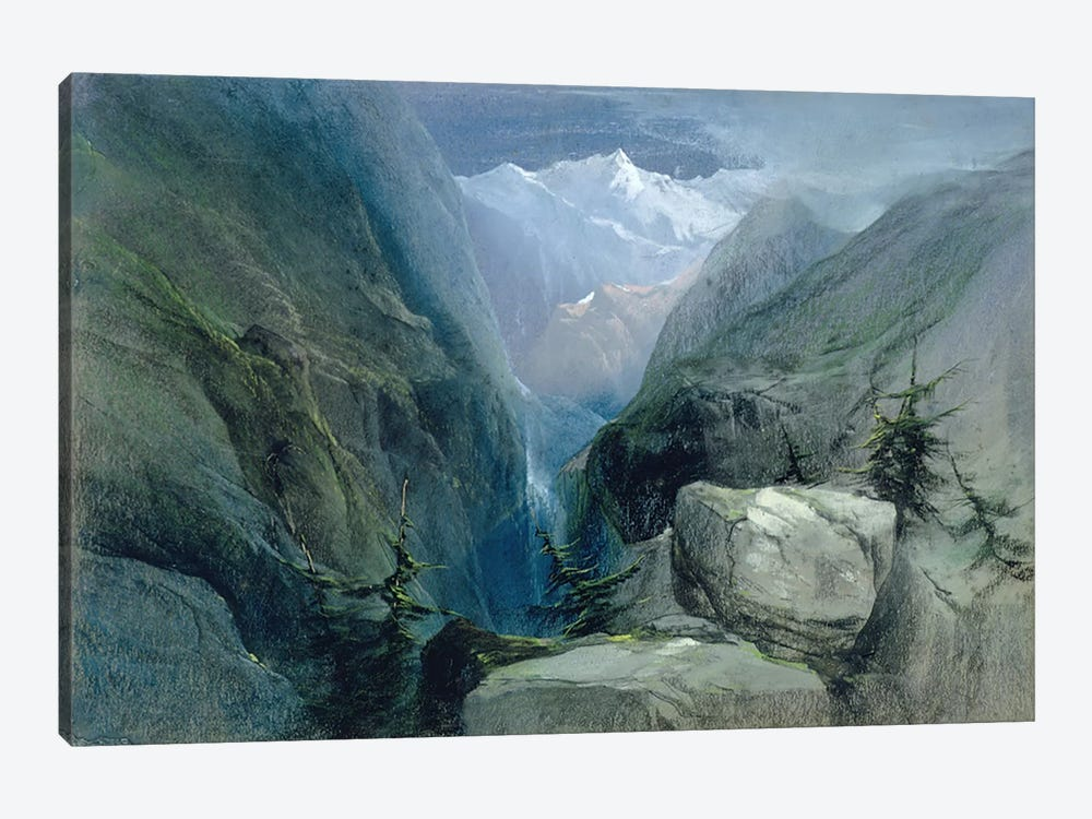 Mountain Landscape by Henry Bright 1-piece Art Print