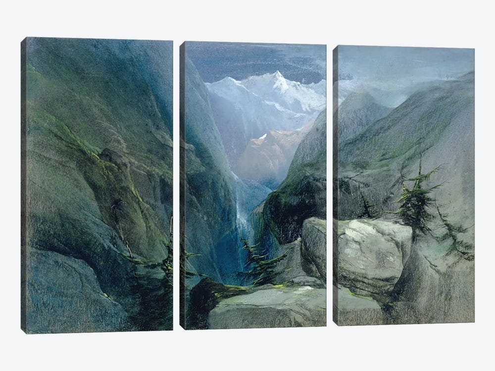 Mountain Landscape by Henry Bright 3-piece Art Print