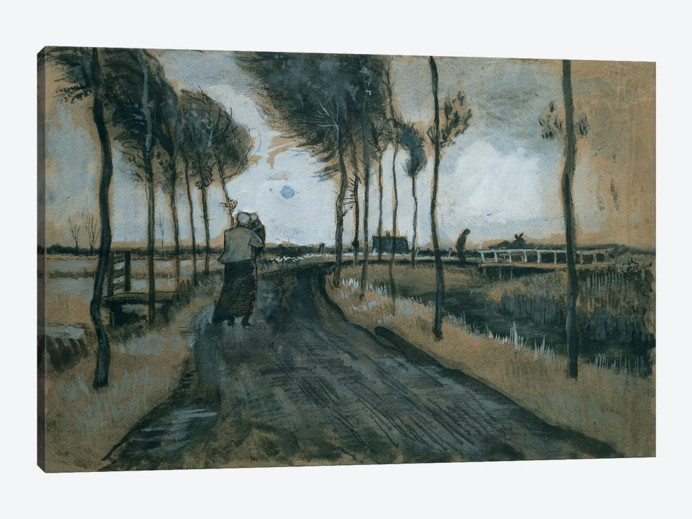 Landscape with woman and child, 1883  by Vincent van Gogh 1-piece Canvas Art