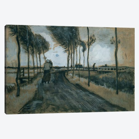 Landscape with woman and child, 1883  Canvas Print #BMN5610} by Vincent van Gogh Canvas Artwork