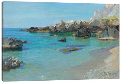 On the Capri Coast  Canvas Art Print