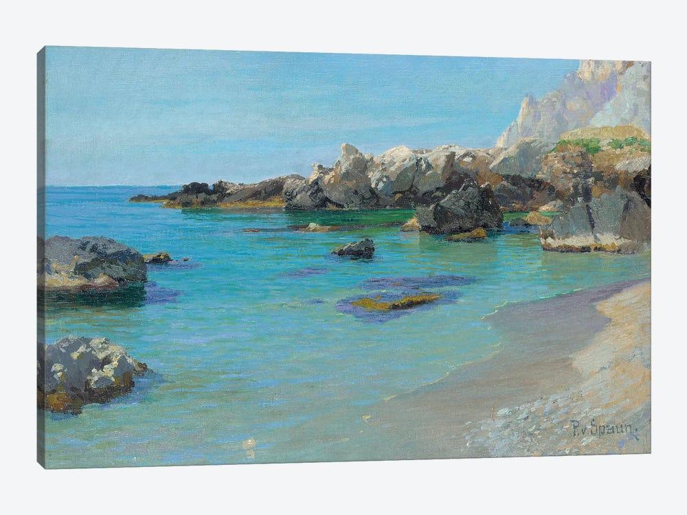 On the Capri Coast  by Paul von Spaun 1-piece Canvas Print