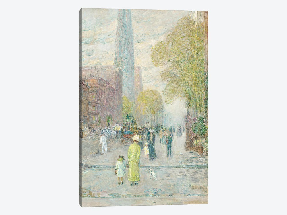 Cathedral Spires, Spring Morning, 1909  by Childe Hassam 1-piece Canvas Art