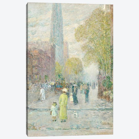 Cathedral Spires, Spring Morning, 1909  Canvas Print #BMN5614} by Childe Hassam Art Print