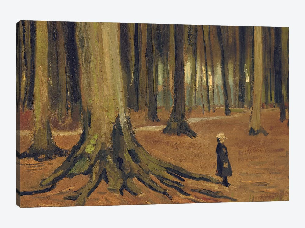 A Girl in a Wood, 1882  by Vincent van Gogh 1-piece Art Print