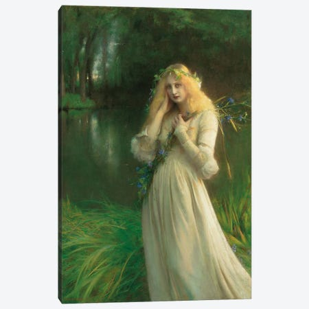 Ophelia, 1900  Canvas Print #BMN5619} by Pascal-Adolphe-Jean Dagnan-Bouveret Canvas Art