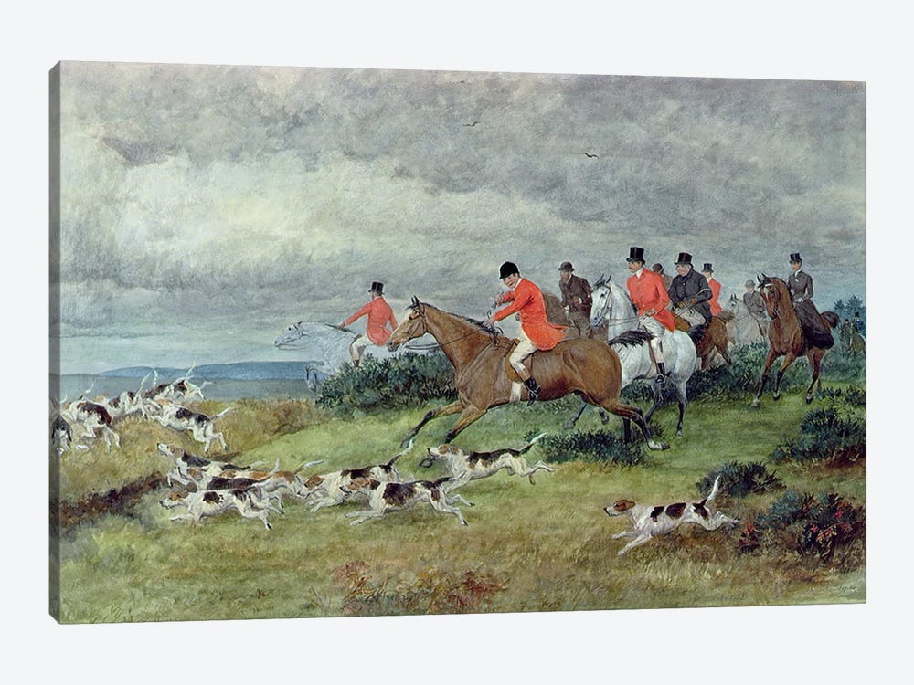 Fox Hunting in Surrey, 19th century  by Randolph Caldecott 1-piece Canvas Art