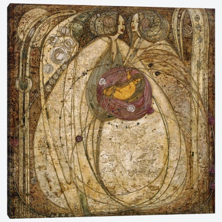 The Heart of the Rose, 1902  Canvas Print #BMN5621} by Margaret MacDonald Mackintosh Canvas Print
