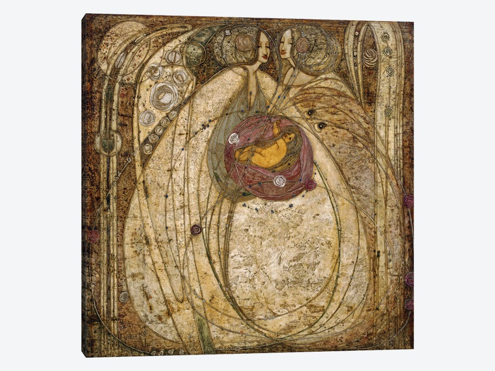 The Heart of the Rose, 1902  by Margaret MacDonald Mackintosh 1-piece Canvas Art