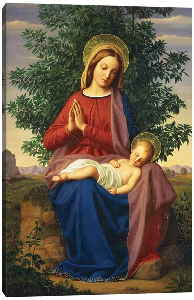 The Madonna and Child, 1855  Canvas Art Print