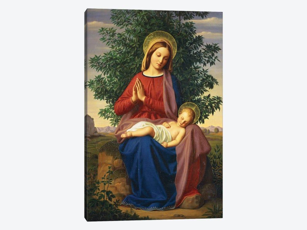 The Madonna and Child, 1855  by Julius Schnorr von Carolsfeld 1-piece Canvas Art Print