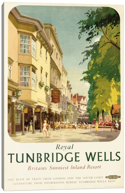 Royal Tunbridge Wells, poster advertising British Railways Canvas Art Print