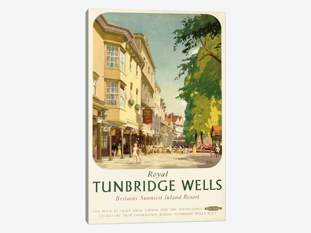 Royal Tunbridge Wells, poster advertising British Railways by Frank Sherwin 1-piece Canvas Artwork