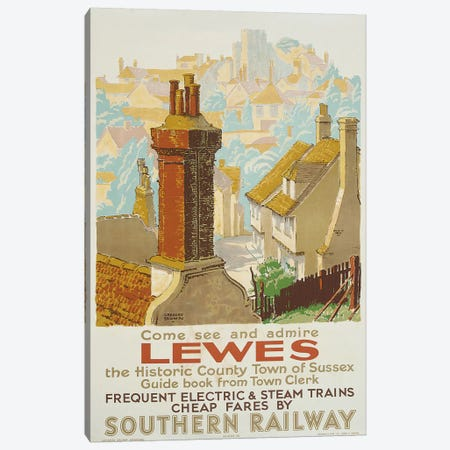Lewes, poster advertising Southern Railway  Canvas Print #BMN5629} by Gregory Brown Art Print