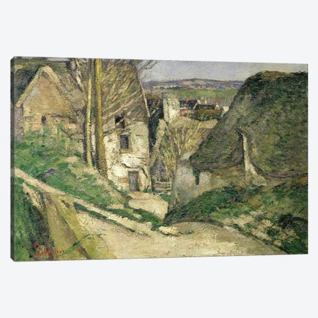 The House of the Hanged Man, Auvers-sur-Oise, 1873   3-Piece Canvas #BMN562} by Paul Cezanne Art Print