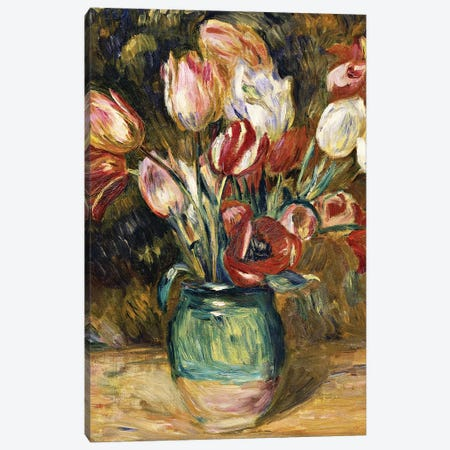 Vase of flowers, 1888-89  Canvas Print #BMN5633} by Pierre-Auguste Renoir Canvas Artwork