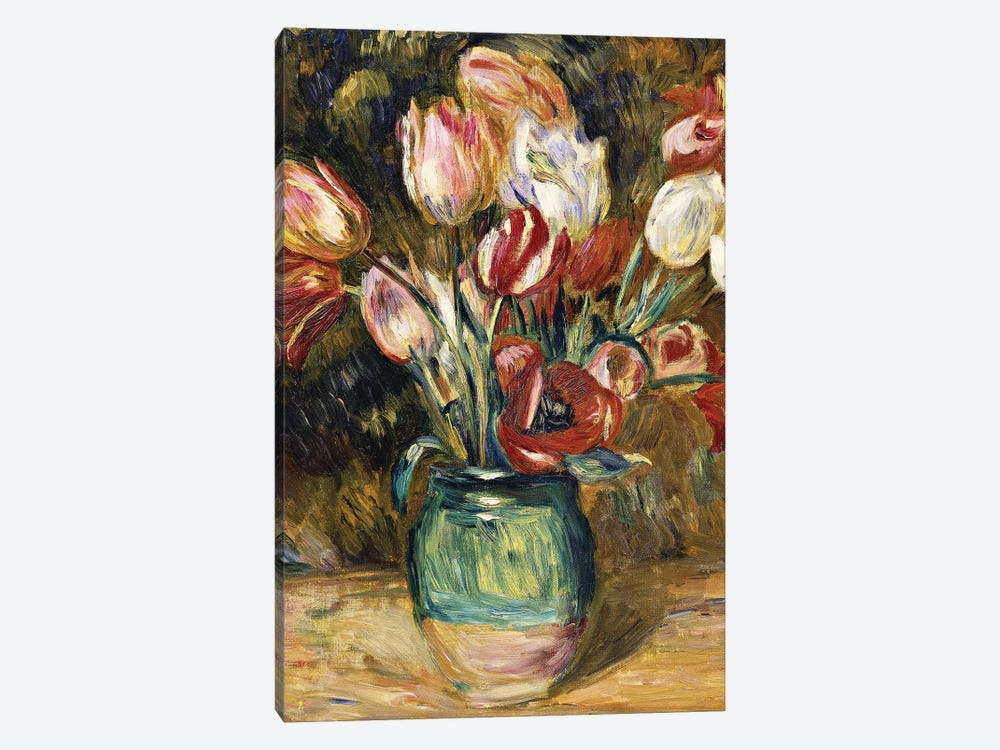 Vase of flowers, 1888-89  by Pierre-Auguste Renoir 1-piece Canvas Art Print