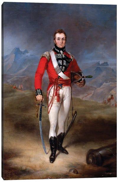 Portrait of Major Lambert Brabazon Urmston, wearing the uniform of the 45th Regiment  Canvas Art Print
